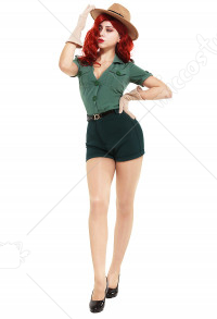 Park Ranger Jessica Rabbit Cosplay Costume with Hat