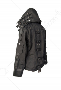 PlayerUnknown's Battlegrounds PUBG Black Hoodie Jacket Coat Cosplay Costume