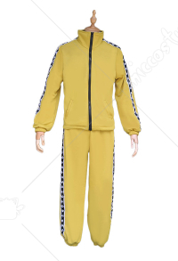 PlayerUnknown's Battlegrounds PUBG Yellow Sports Suit Cosplay Costume