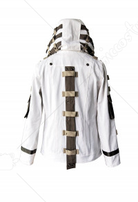 PlayerUnknown's Battlegrounds PUBG White Hoodie Jacket Coat Cosplay Costume