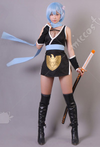 Re Zero Starting Life in Another World Rem Female Ninja Cosplay Costume