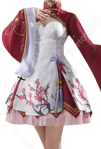 Re:Zero Starting Life in Another World Pink Ram Cheongsam Chinese Style Lolita Dress Cosplay Costume
