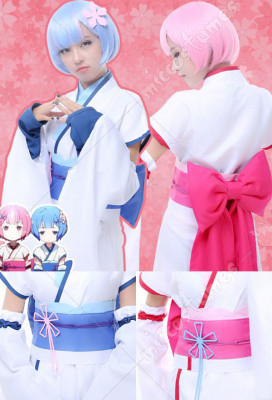 Re:Zero Starting Life in Another World Ram Rem Cosplay Costume Bunny Girl  Dress