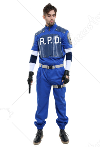 Resident Evil 2 Leon S. Kennedy R.P.D Cosplay Costume Uniform Set