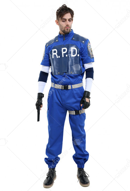Resident Evil 2 Leon S Kennedy R P D Cosplay Costume Uniform Set