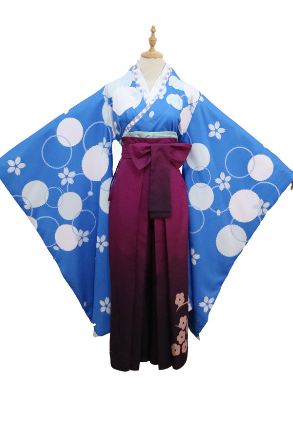 Re: Zero − Starting Life in Another World Rem / Ram Kimono Cosplay Kostüm Abschlussfestival Set