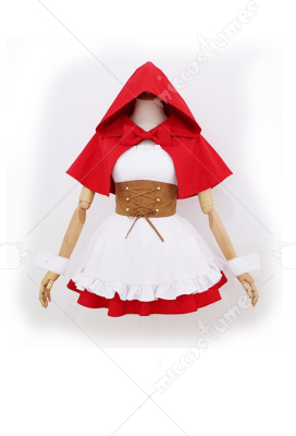 Re: Zero − Starting Life in Another World Ram/Rem Red Dress Little Red Riding Hood Cosplay Costume