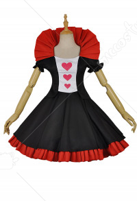 Re: Zero − Starting Life in Another World Ram Cosplay Alice in Wonderland Queen of Hearts Maid Cosplay Costume