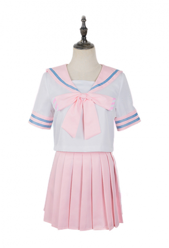 Re Zero Starting Life in Another World Ram Sailor Uniform School Girl JK Uniform Cosplay Costume