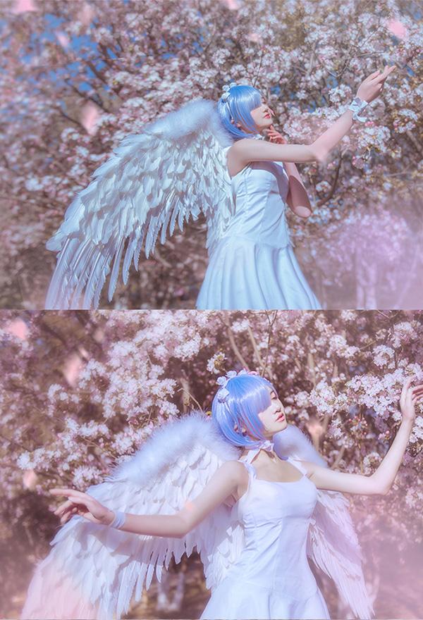 Re: Zero Starting Life in Another World Rem Engel Kleid Cosplay Kostüm