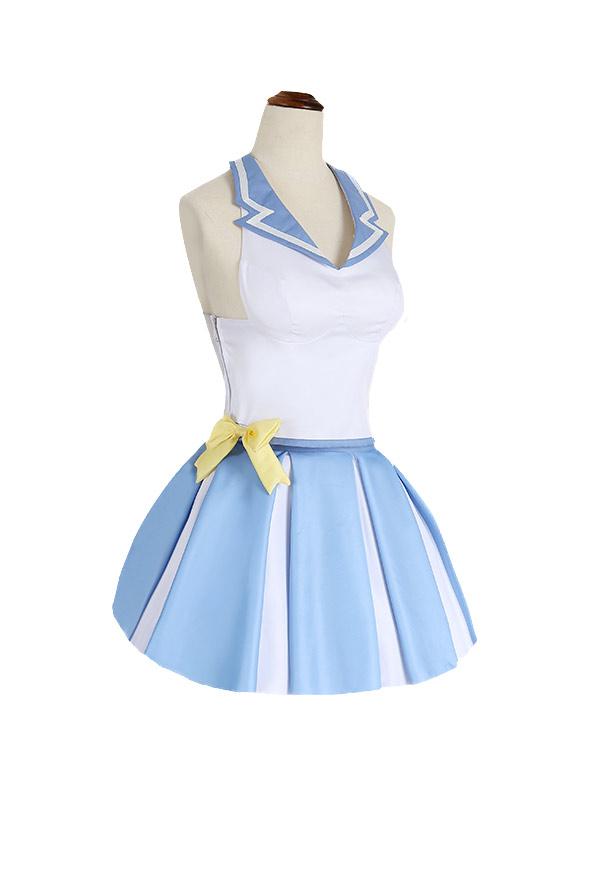 Re:Zero − Starting Life in Another World Rem Japanische Stil Cheerleading Streifen Cosplay Kostüm Kleid