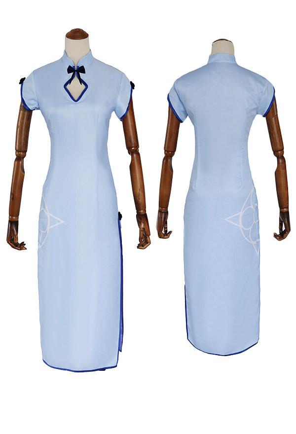 Re Zero Starting Life in Another World Rem Cosplay Kostüm Blau Cheongsam