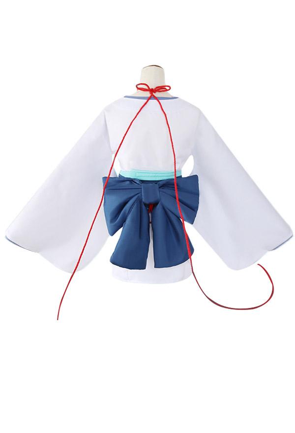 Re Zero Starting Life in Another World Rem Cosplay Kostüm Snow Maiden Ver Weiß Kimono