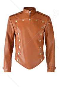 Halloween The Rocketeer Cosplay Costume Leather Jacket for Men