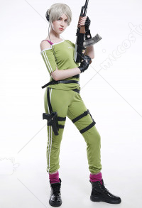 Rainbow Six IQ Elite Women Sports Suit Cosplay Costume with Belt Set