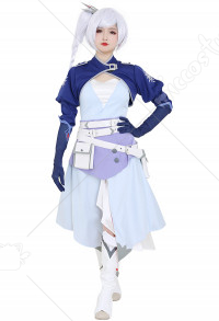 RWBY 7 Ruby Weiss Schnee Dress Costume with Belt Set