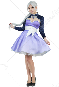 RWBY Volume 4 Weiss Schnee Cosplay Short Dress Costume
