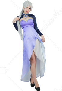 RWBY Volume 4 Weiss Schnee Cosplay Costume Long Dress