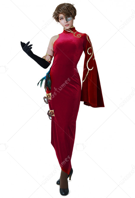 RWBY 4 Cinder Fall Cosplay Costume Cheongsam Dress