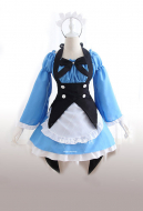 Re: Zero Starting Life in Another World Ram Rem Maid Cosplay Costume with Headdress & Black Bow
