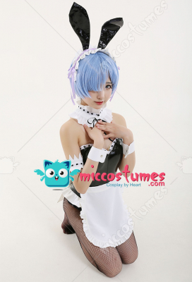 Re Zero Starting Life in Another World Ram Rem Bunny Girl Bodysuit Cosplay Costume