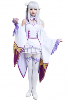 Re Zero Starting Life in Another World Emilia Cosplay Kostüm