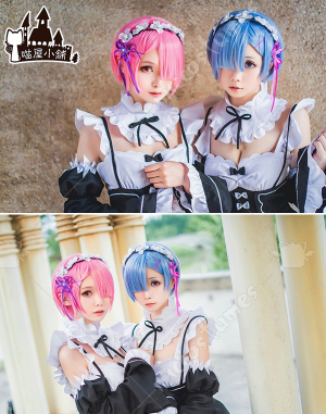 Miaowucos Re:Zero − Starting Life in Another World Ram Rem Cosplay Costume Maid Dress