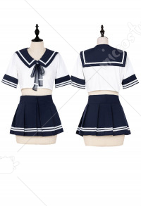 Cute Sailor Collar Skirt Set Japanese Style School Girl Lingerie JK Uniform Sleepwear