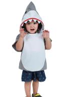 Kids Little Shark Halloween Costume Mascot Hoodie