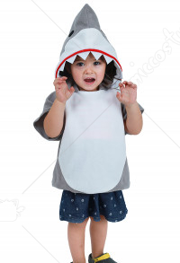 Kids Little Shark Halloween Costume Mascot Hoodie