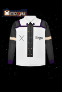 Moeyu Sword Art Online Kirito Long Sleeve Unisex Blouse T-Shirt Cosplay Costume