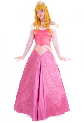 Princess Rose Pink Cosplay Dress Costume Inspired by Princess Aurora