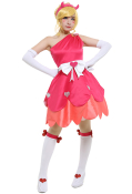 Girls Princess Star Butterfly Blood Moon Ball Día de Muertos Red Cosplay Dress Costume with Hair Accessory