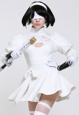 Soulcalibur VI 2P YoRHA N ° 2 Type B 2B Nier: Automata 2B Costume Cosplay Blanc