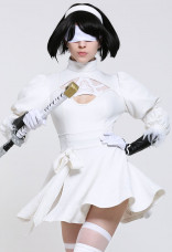 SoulCalibur 白2B靈魂能力6尼爾:機械紀元尤爾哈2號 自動人形寄葉2號B型cosplay服裝