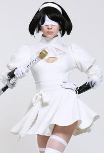 Soulcalibur VI 2P YoRHa No. 2 Type B 2B Nier: Automata 2B White Cosplay Costume , $43.99 (was $93.63)
