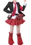 Shugo Chara Amu Hinamori Uniform Suit Skirt Cosplay Costume