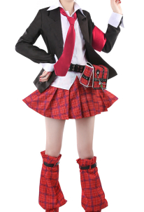 Shugo Chara Amu Hinamori Uniform Suit Skirt Cosplay Costume