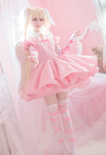 Shugo Chara Utau Hoshina Utau Tsukiyomi Pink Dress Cosplay Costume