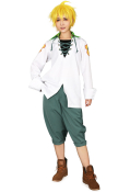 The Seven Deadly Sins Meliodas White Shirt Cosplay Costume