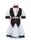 Steins Gate Faris Nyannyan Rumiho Akiha Maid Dress Cosplay Costume