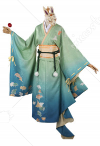 Honor of Kings Sun Shangxiang Ginkgo Leaves Kimono Cosplay Costume