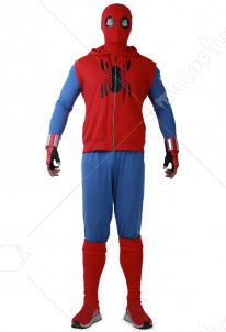 Superhero Cosplay Costume Suit with Hoodie Inspired by Spider-Boy Movie Make to Order