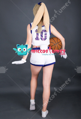 [Free US Economy Shipping] Space Jam Lola Bunny Rabbit Cosplay Costume with Rabbit Bunny Ears
