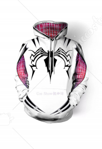 Superhero Hoodie Cosplay Costume Inspiré par Spider-Woman Gwen Stacy Ordre de faire