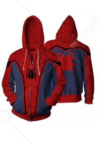 Hoodie Cosplay Costume Inspired by Spider-Man Iron Spider Make to Order