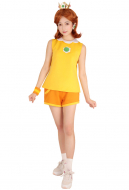 [Free US Economy Shipping] Mario Tennis Princess Daisy Cosplay Costume with Crown