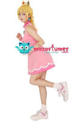 [Free US Economy Shipping] Mario Tennis Princess Peach Cosplay Costume Dress