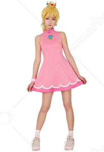 [Free US Economy Shipping] Mario Tennis Princess Peach Cosplay Costume Dress