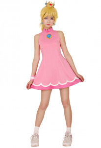 Mario Tennis Princess Peach Cosplay Costume Dress , $24.99 (was $46.33)
